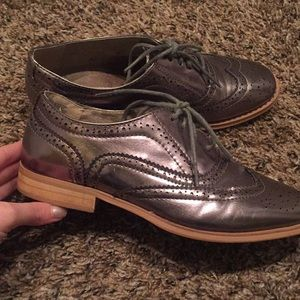 Shoes - Metallic oxfords
